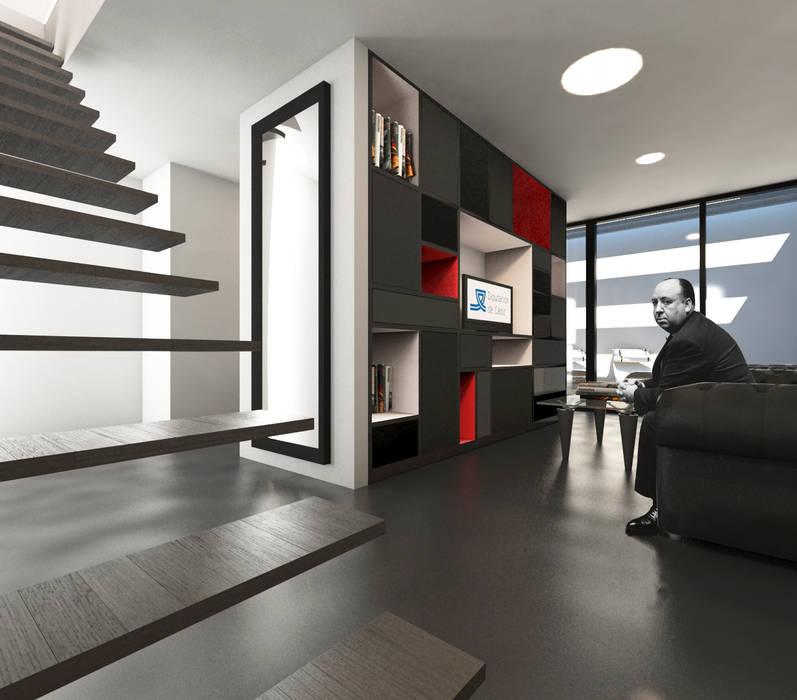 Estar VPO (VMEJÓ): Salones de estilo  de Q:NØ Arquitectos