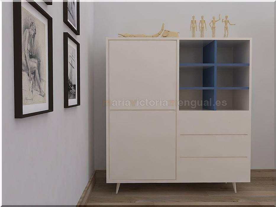 Mueble auxiliar.: Comedores de estilo  de MUMARQ ARQUITECTURA E INTERIORISMO