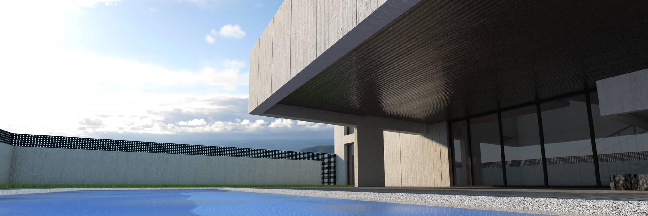 Vivienda unifamiliar aislada: Piscinas de estilo  de Q:NØ Arquitectos