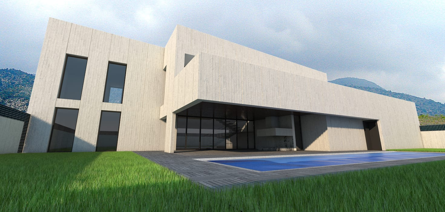 Vivienda unifamiliar aislada: Casas de estilo moderno de Q:NØ Arquitectos