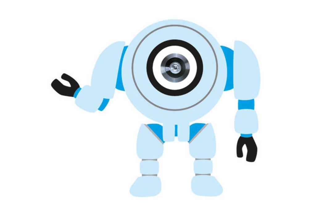 Türspion Robot 01 Ausgefallener Flur, Diele & Treppenhaus von K&L Wall Art Ausgefallen