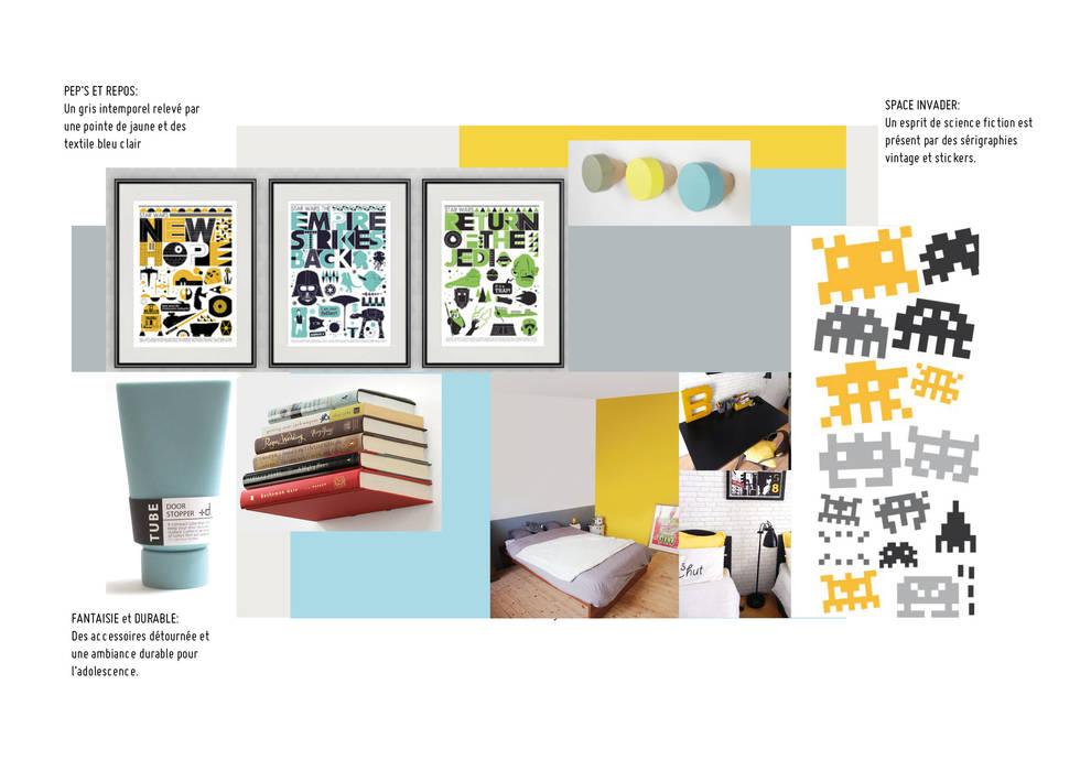 Planche tendance chambre enfant: Chambre d'enfant de style  par Gwenaelle Hoyet, Éclectique