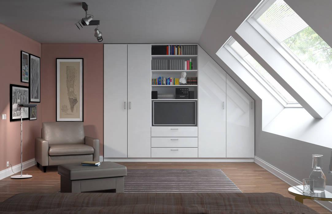 Dachschrägenschrank nach Maß:  Wohnzimmer von deinSchrank.de GmbH