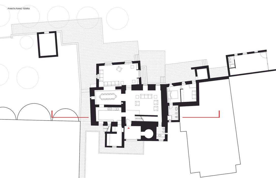 casa A2 Case moderne di vps architetti Moderno