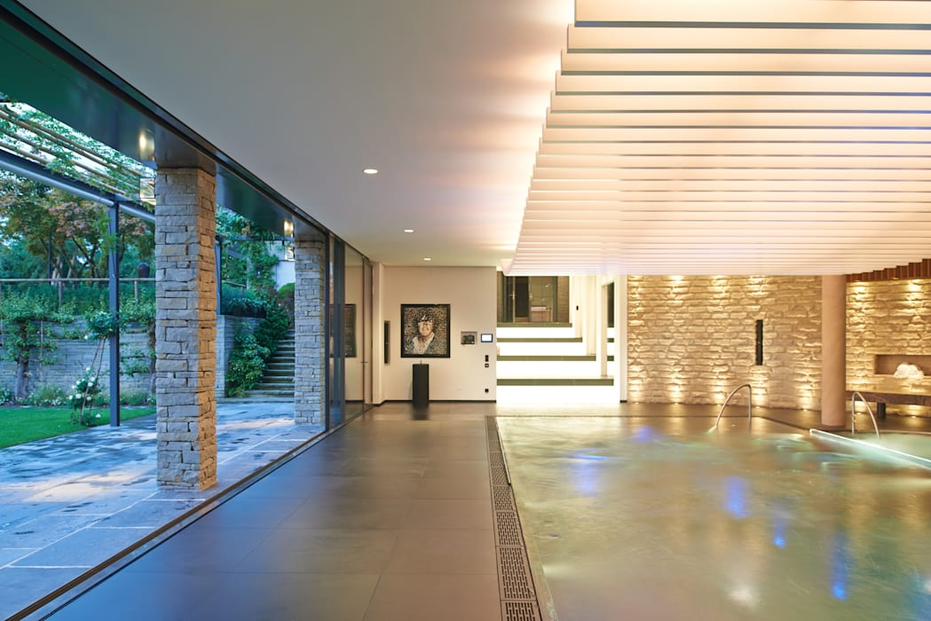Private wellness area Spa modernos de Tobias Link Lichtplanung Moderno