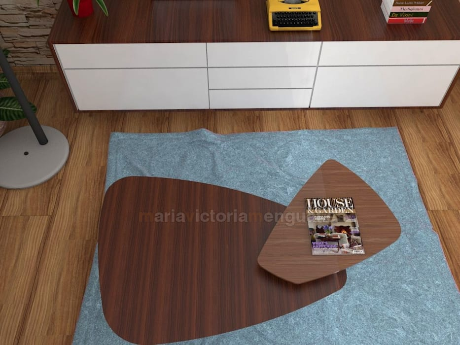 Mesas de centro con diseño. Salones de estilo ecléctico de MUMARQ ARQUITECTURA E INTERIORISMO Ecléctico