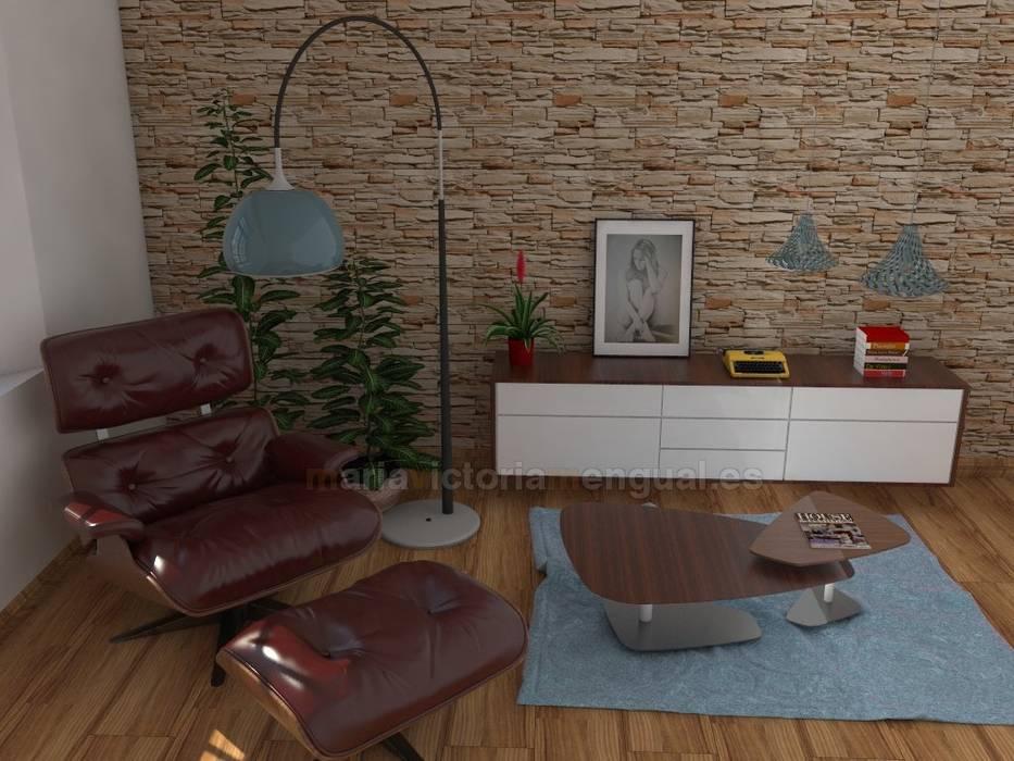 Estancia de lectura.: Salones de estilo ecléctico de MUMARQ ARQUITECTURA E INTERIORISMO