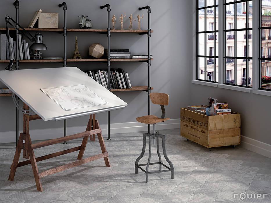 Curvytile Factory Avenue Grey 26,5x26,5 Estudios y despachos de estilo industrial de homify Industrial
