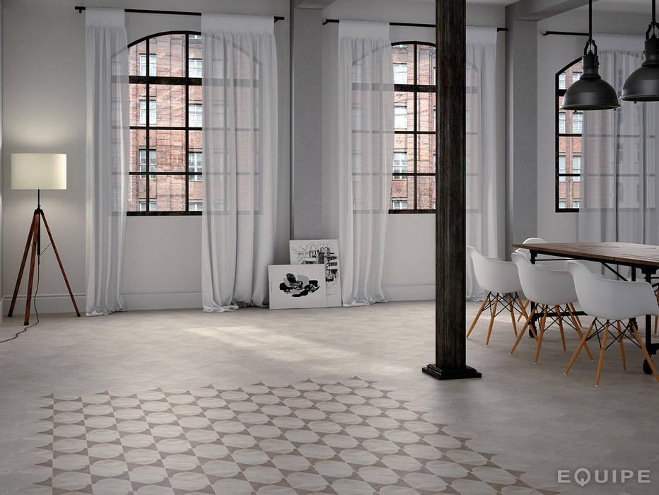 Curvytile Factory Mond  26,5x26,5: Salones de estilo moderno de Equipe Ceramicas