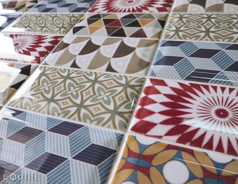 Metro Patchwork Colors 7,5x15 Equipe Ceramicas Baños de estilo mediterráneo Cerámico