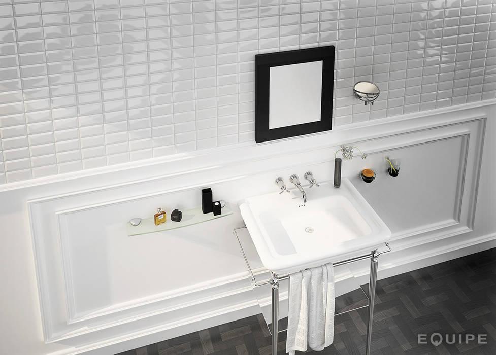 Metro White 7,5x15 Baños de estilo moderno de Equipe Ceramicas Moderno Cerámico