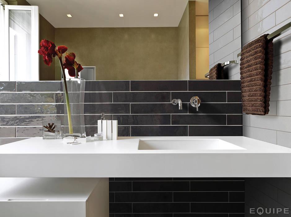 Country Anthracite 6,5x40 Baños de estilo moderno de Equipe Ceramicas Moderno Azulejos