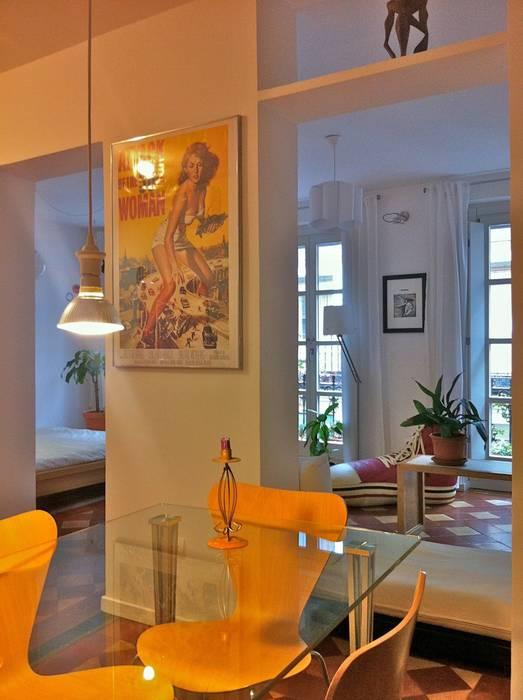 loft en Madrid Cocinas de estilo ecléctico de Alacet Ecléctico