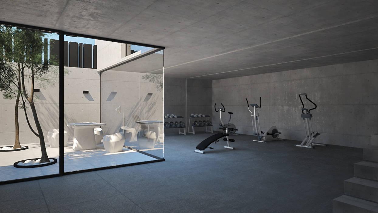 homify Moderner Fitnessraum