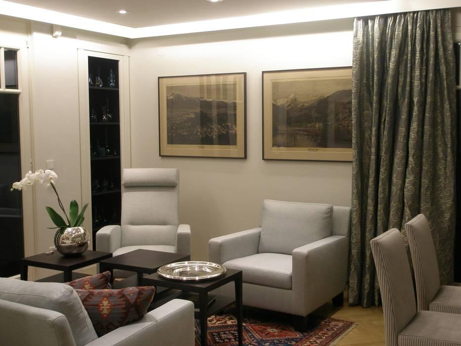 Apartement:  Wohnzimmer von Elke Altenberger Interior Design & Consulting