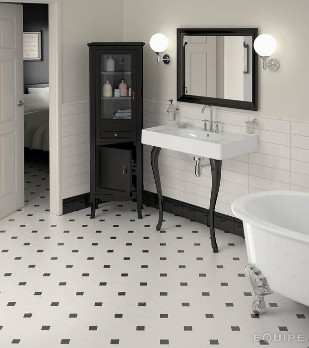 Octagon blanco mate 20x20 cm: Baños de estilo clásico de Equipe Ceramicas