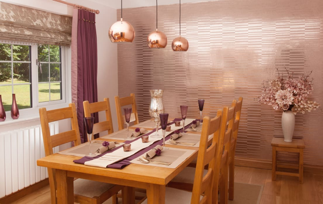 Feature Wall Modern dining room by Whitehouse Interiors Modern