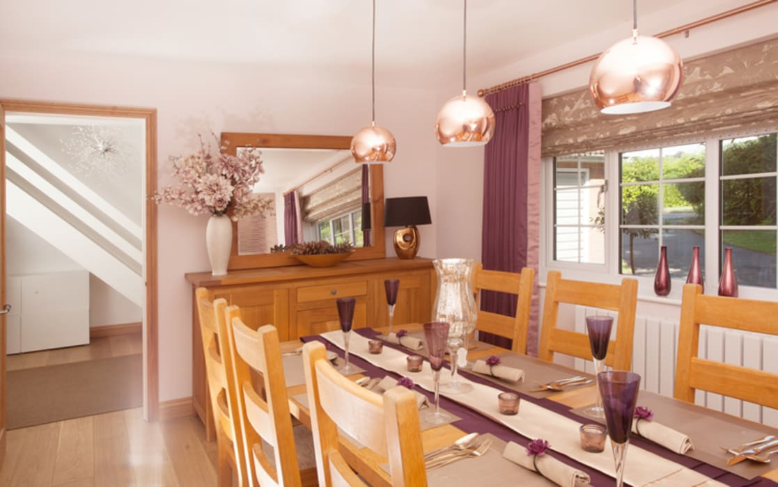 Soft Furnishings :  Dining room by Whitehouse Interiors