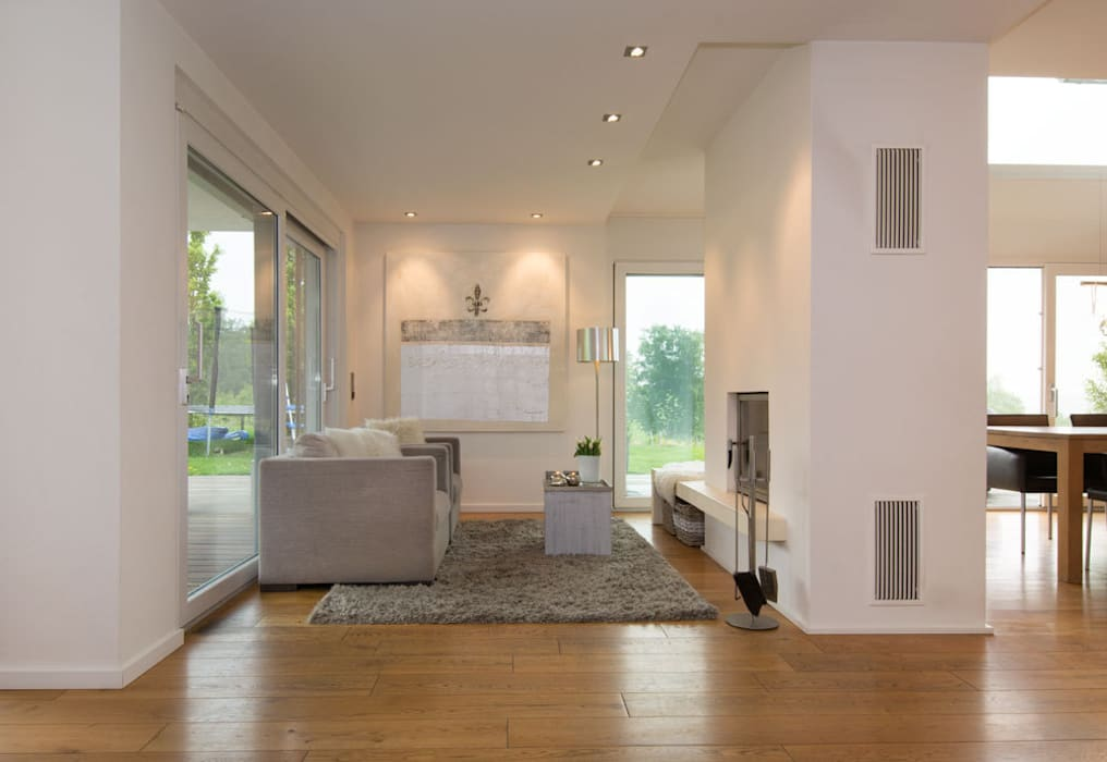 Kaminzimmer Luna Homestaging Moderne Wohnzimmer