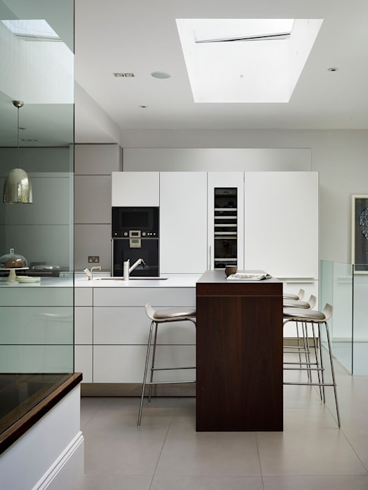 Victorian house conversion: modern Kitchen by Genevieve Hurley Interiors Ltd