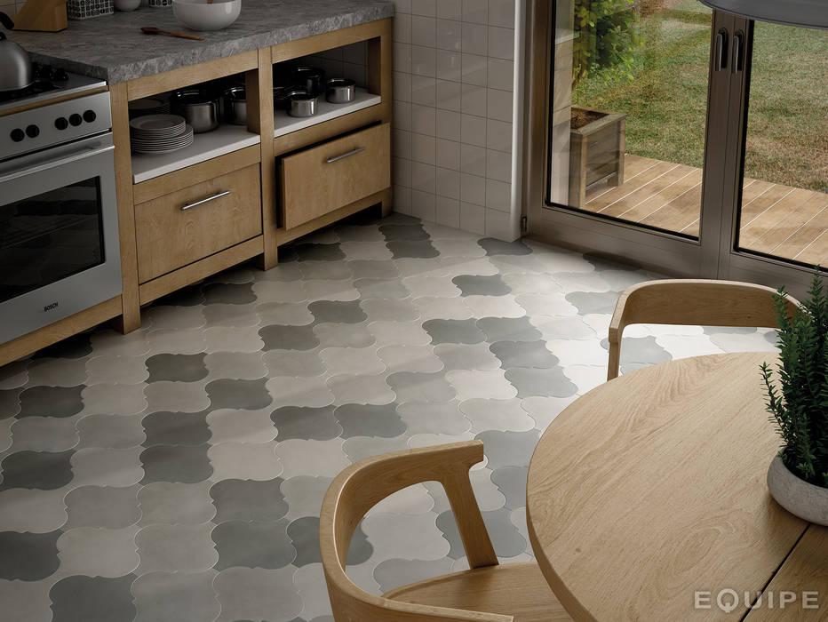 Curvytile Factory White, Grey, Black  26,5x26,5: Paredes de estilo  de Equipe Ceramicas