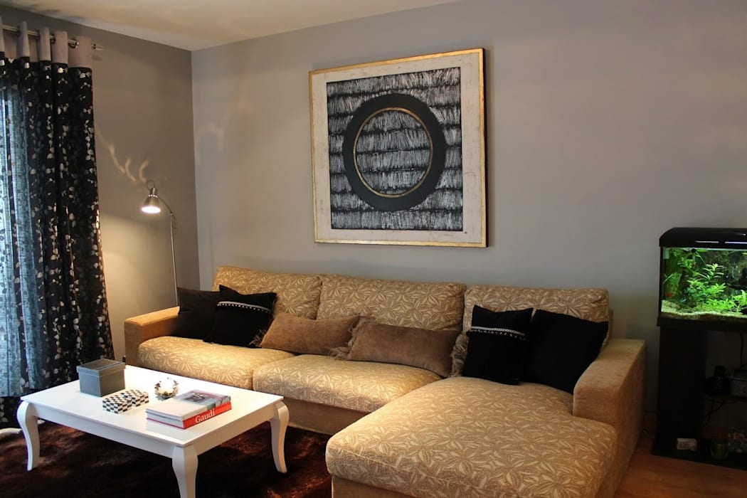 Decoración de salón Salones de estilo moderno de Ámbar Muebles Moderno
