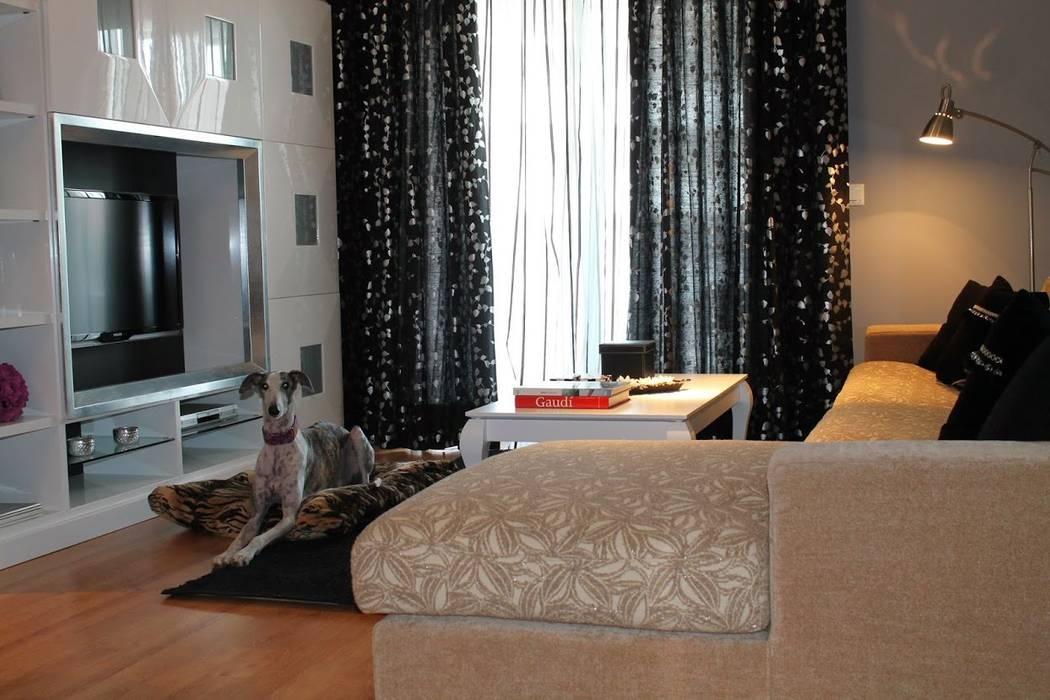 Decoración de salón: Salones de estilo moderno de Ámbar Muebles