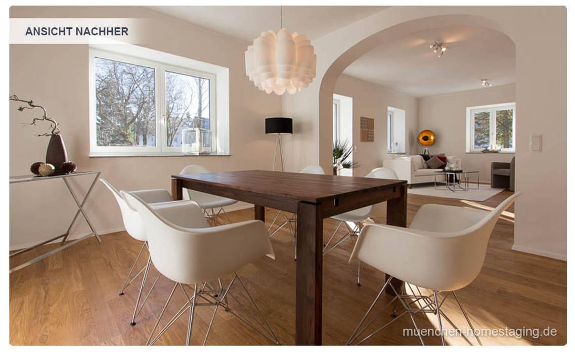 Esszimmer mit Home Staging: klassische Esszimmer von Münchner HOME STAGING Agentur
