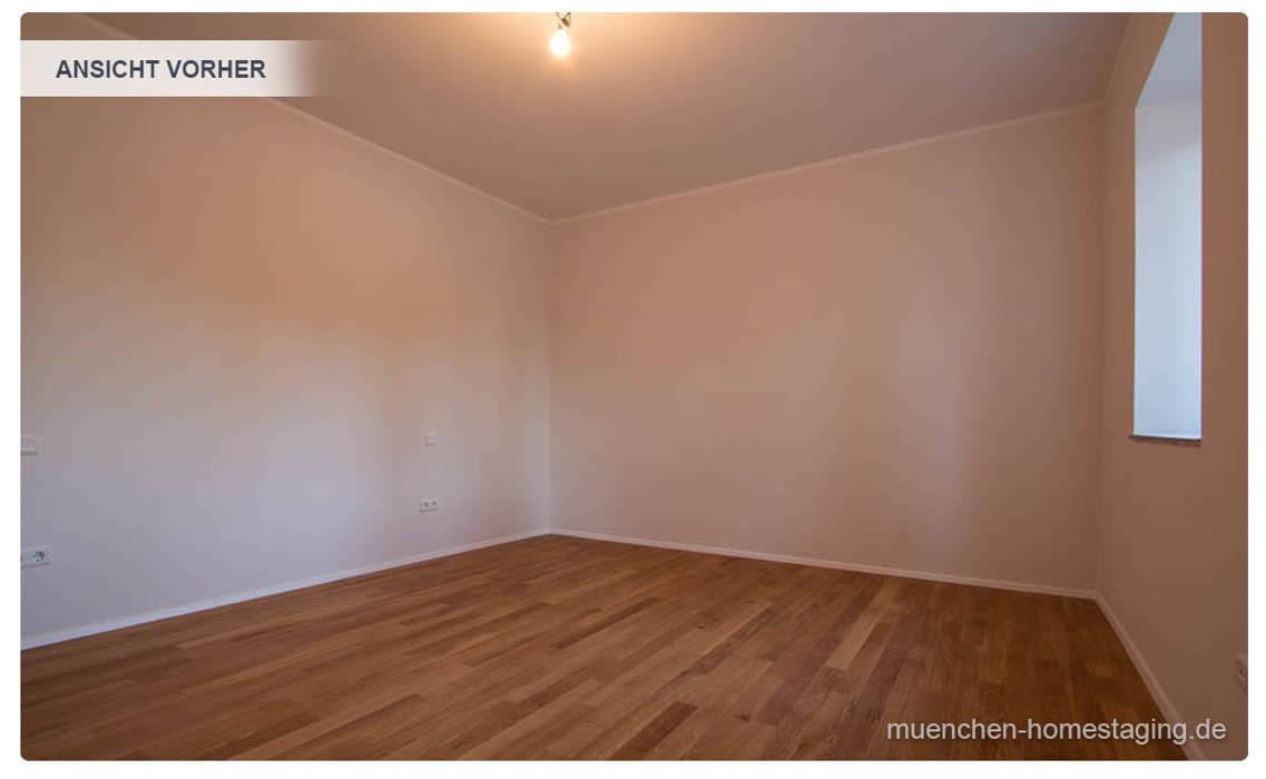 Schlafzimmer ohne Home Staging Münchner HOME STAGING Agentur Klassische Schlafzimmer