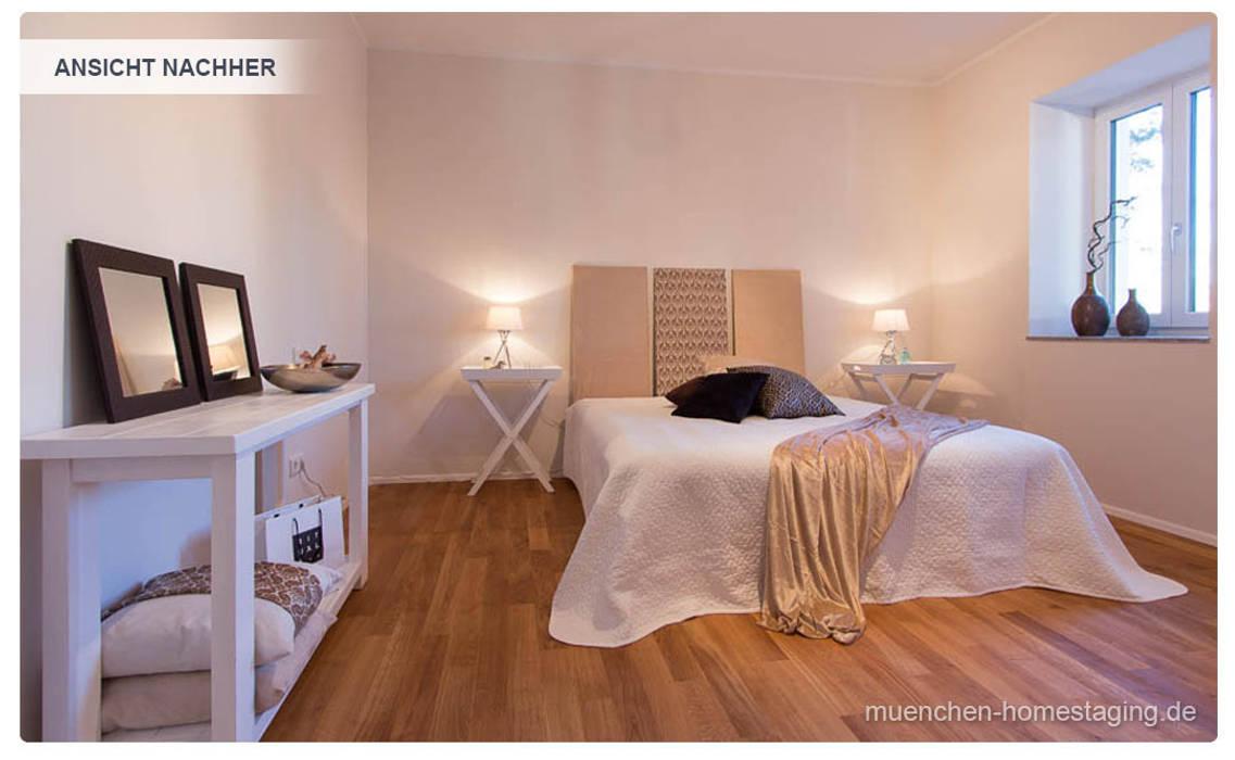Schlafzimmer mit Home Staging Münchner HOME STAGING Agentur Klassische Schlafzimmer