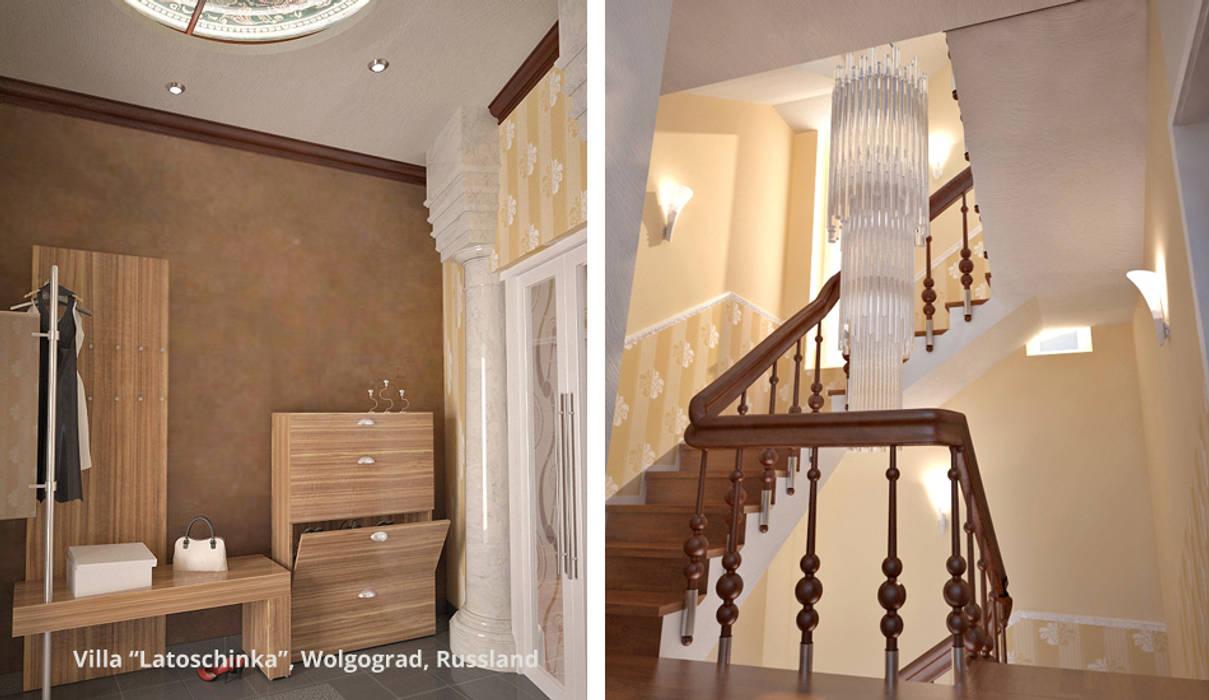 Pasillos, vestíbulos y escaleras clásicas de GID│GOLDMANN-INTERIOR-DESIGN - Innenarchitekt in Sehnde Clásico