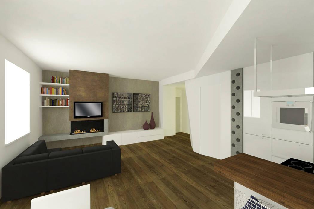 Salones de estilo moderno de CAFElab studio Moderno