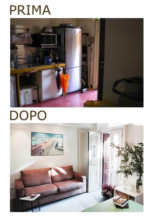 soggiorno Case moderne di marta novarini architetto Moderno