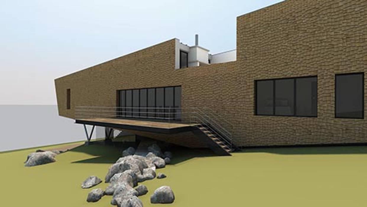 House in Nova Scotia di 4D Studio Architects and Interior Designers Moderno