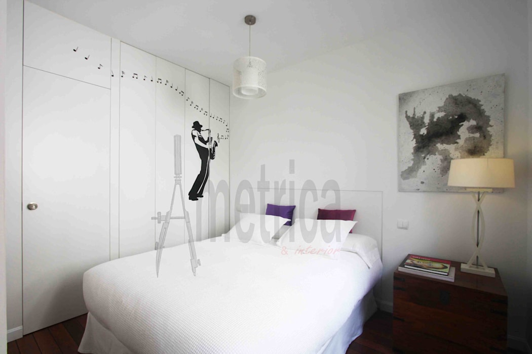Dormitorio: Dormitorios de estilo ecléctico de Ametrica & Interior, S.L.