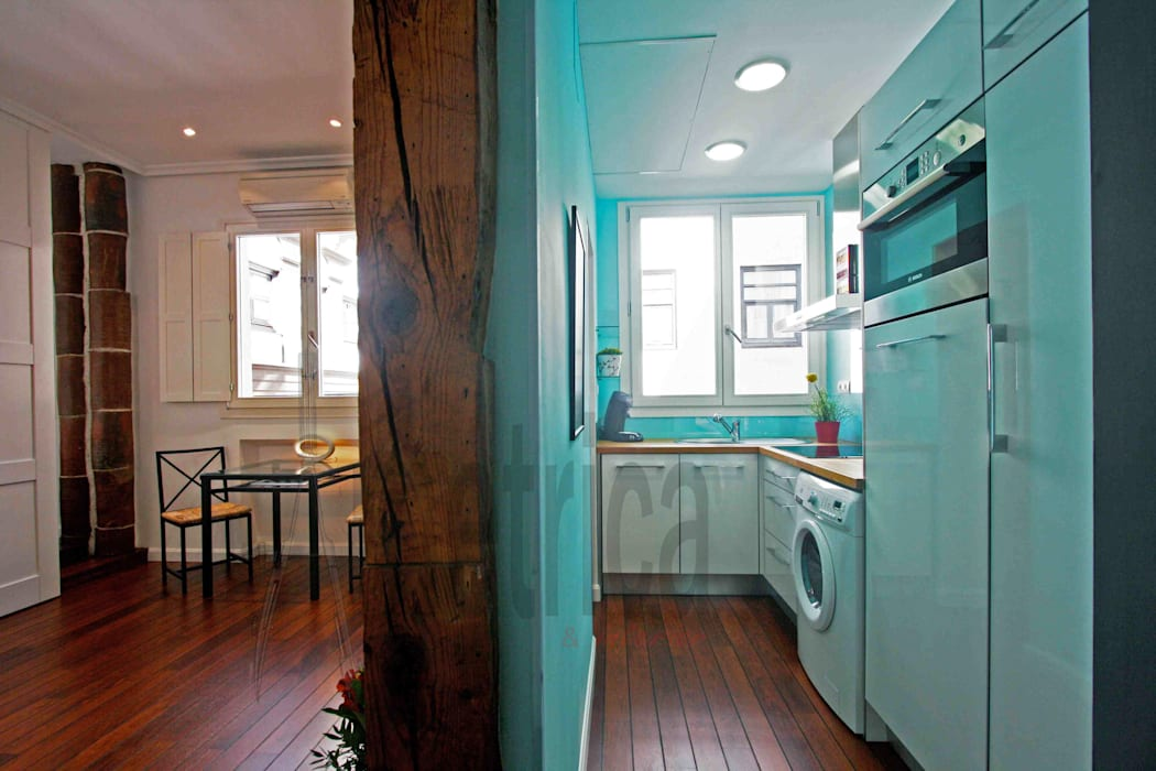 Vista Parcial: Cocinas de estilo  de Ametrica & Interior, S.L.
