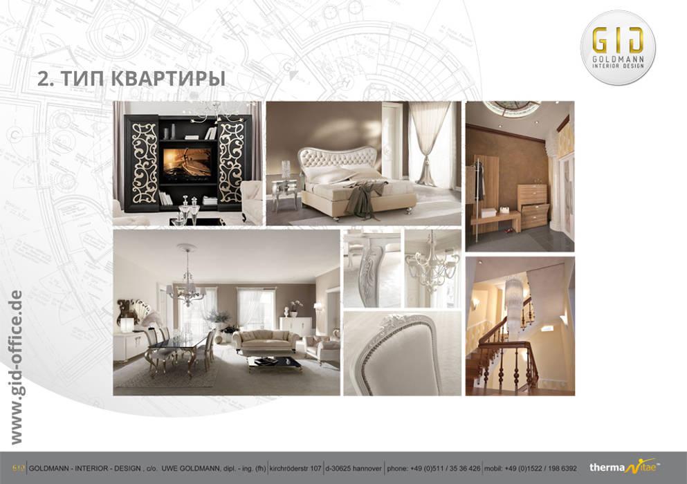 Wohnung - Typ 2:  Häuser von GID│GOLDMANN - INTERIOR - DESIGN