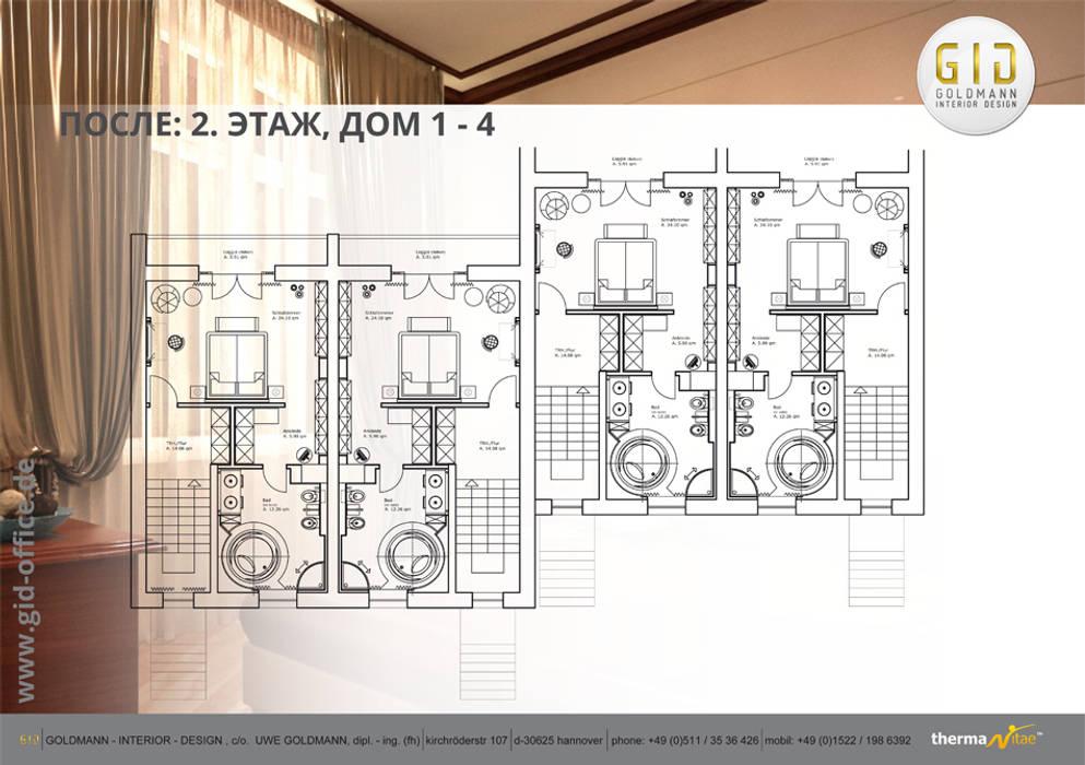 Nachher:  Häuser von GID│GOLDMANN-INTERIOR-DESIGN - Innenarchitekt in Sehnde