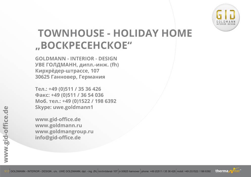 "Townhouse - Holiday Home ""Woskressenski"":  Häuser von GID│GOLDMANN - INTERIOR - DESIGN"