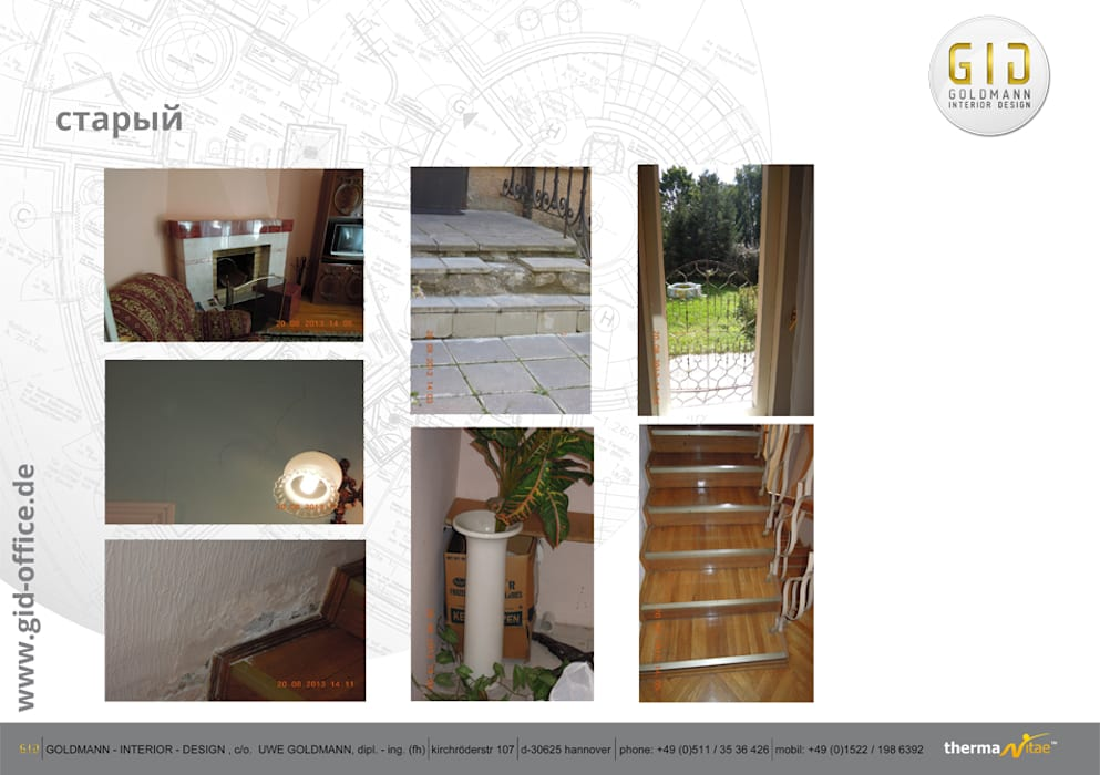 Vorher: moderne Häuser von GID│GOLDMANN - INTERIOR - DESIGN