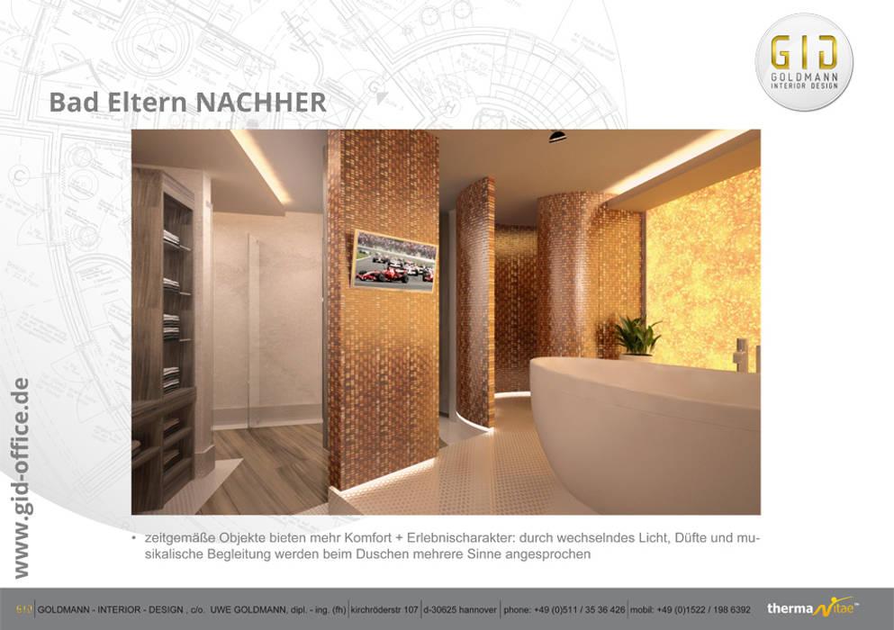 Nachher:  Badezimmer von GID│GOLDMANN-INTERIOR-DESIGN - Innenarchitekt in Sehnde