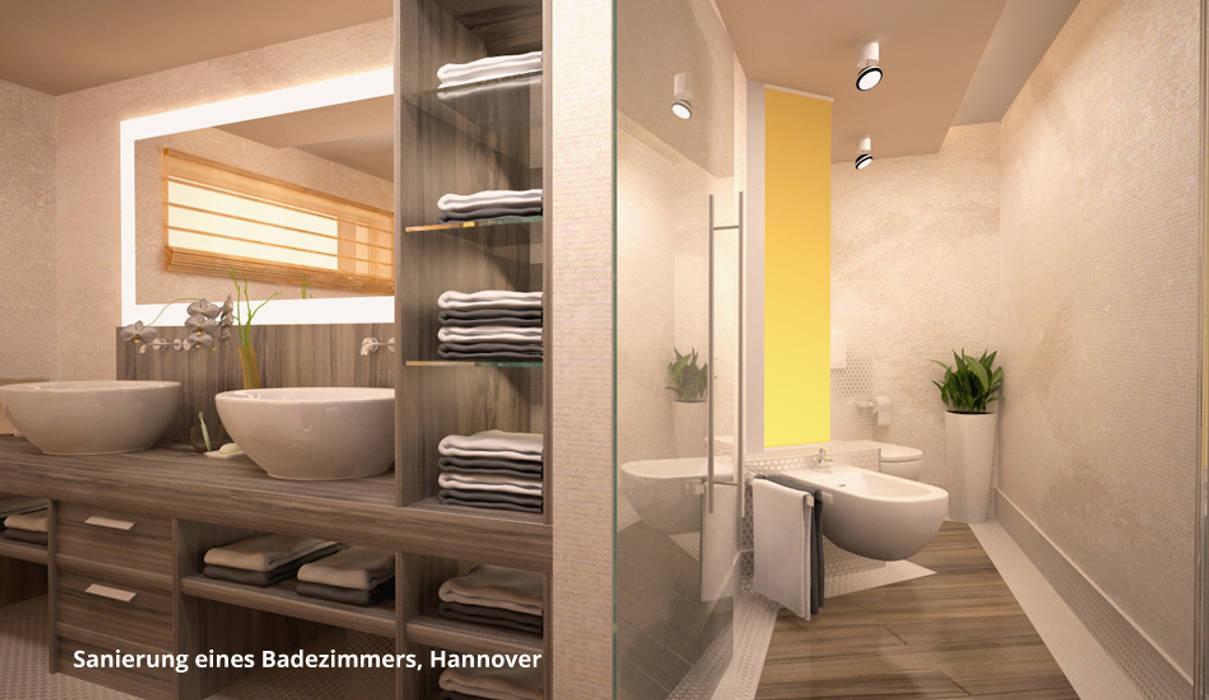 3D-Visualisierung Badsanierung:  Badezimmer von GID│GOLDMANN - INTERIOR - DESIGN