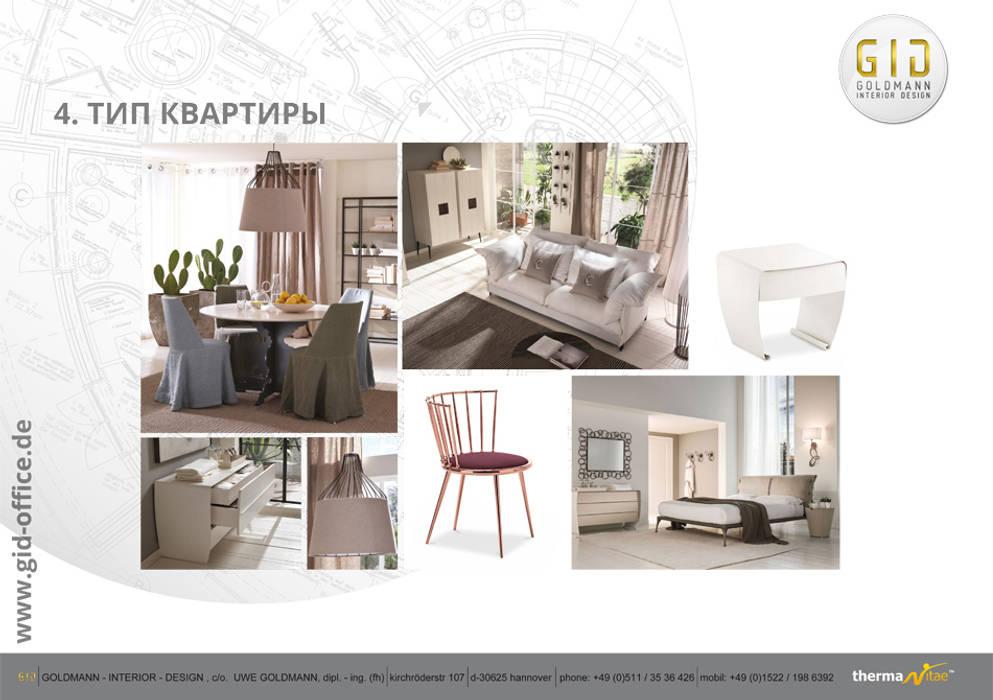 Wohnung - Typ 4:  Häuser von GID│GOLDMANN-INTERIOR-DESIGN - Innenarchitekt in Sehnde