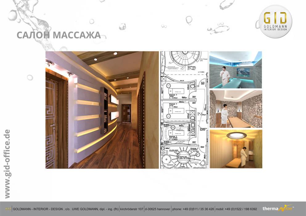 Massage - Salon Moderne Praxen von GID│GOLDMANN-INTERIOR-DESIGN - Innenarchitekt in Sehnde Modern