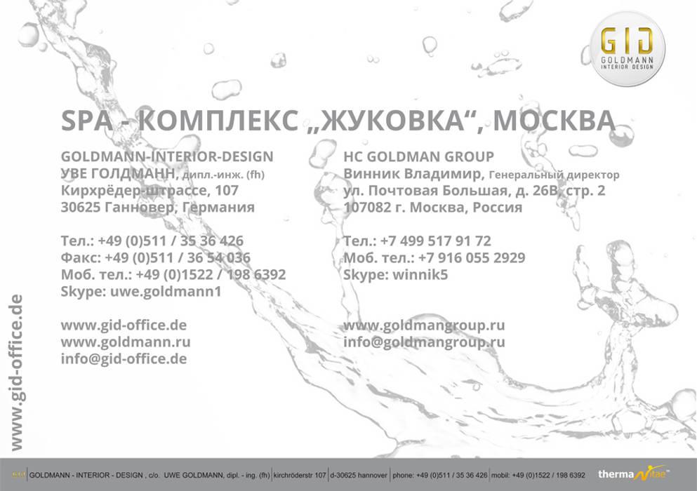 Deckblatt - Präsentation:  Praxen von GID│GOLDMANN - INTERIOR - DESIGN