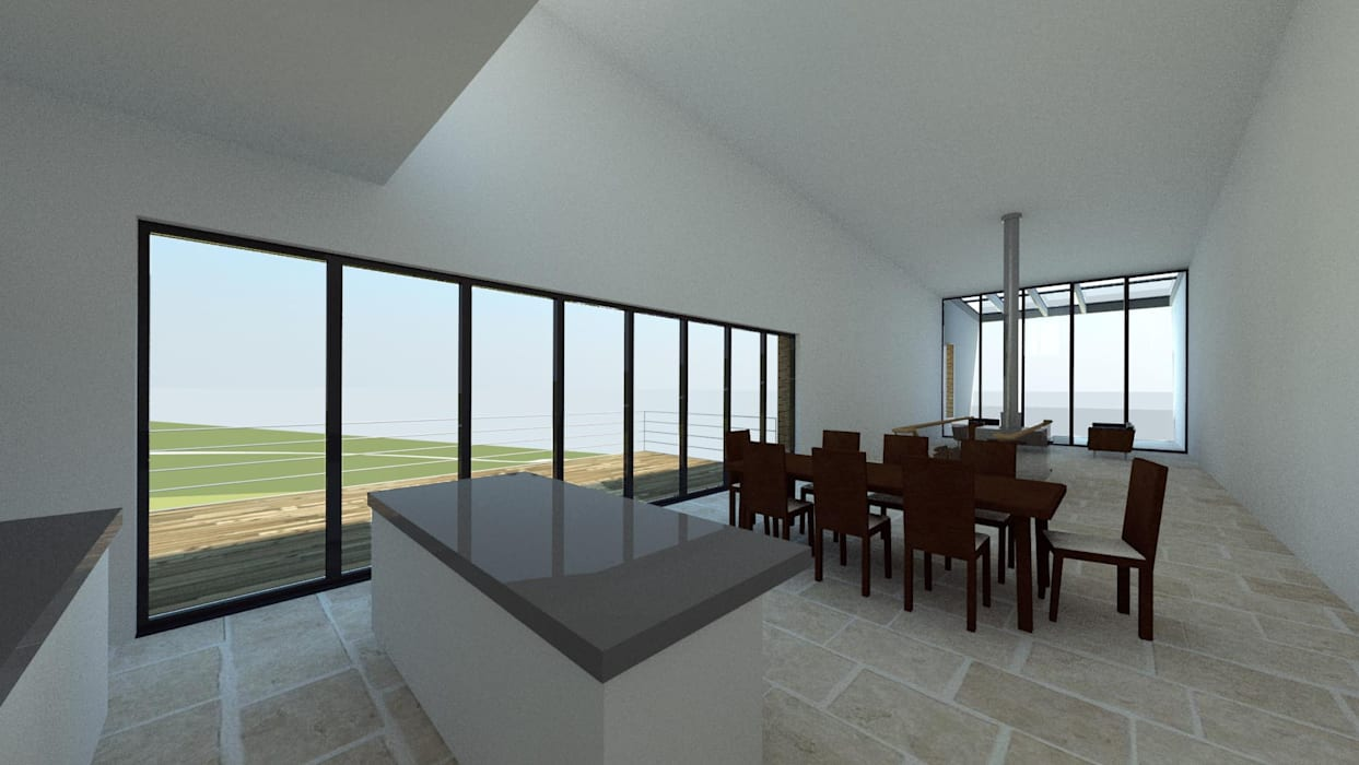 House In Nova Scotia, Canada:  Dining room by 4D Studio Architects and Interior Designers,