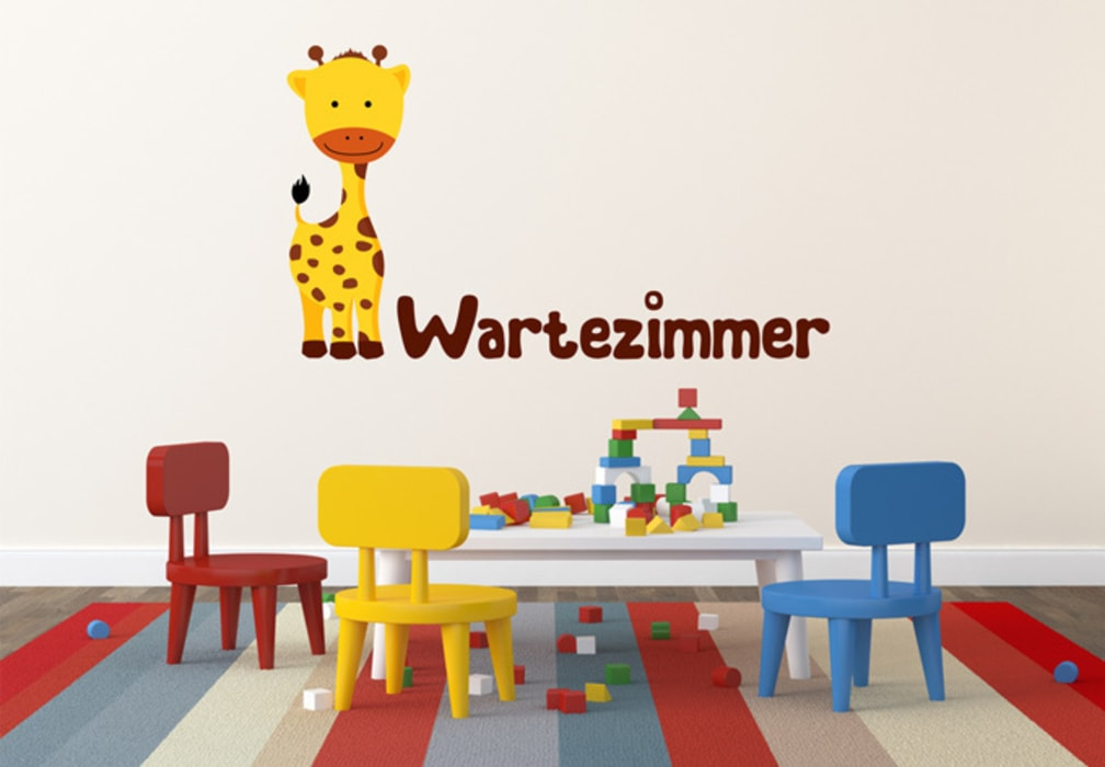 Wandtattoo Wartezimmer Babygiraffe Ausgefallene Praxen von K&L Wall Art Ausgefallen