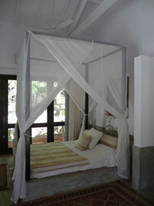 Two Houses in Goa Eclectic style bedroom by 4D Studio Architects and Interior Designers Eclectic