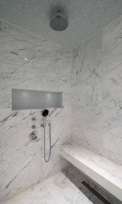 Italian Marble Shower Enclosure: modern Bathroom by Amarestone