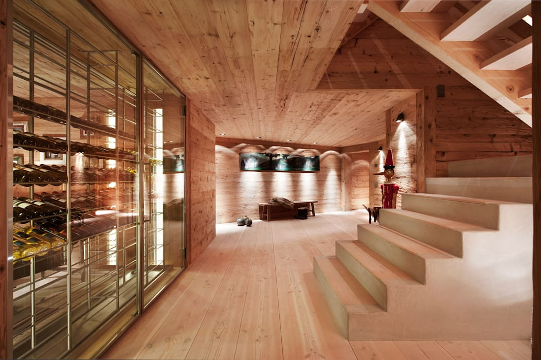 Chalet Gstaad:  Wine cellar by Ardesia Design, Rustic